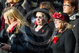 Remembrance Sunday at the Cenotaph in London 2014: Group D24 - War Widows Association. Press stand opposite the Foreign Office building, Whitehall, London SW1, London, Greater London, United Kingdom, on 09 November 2014 at 11:47, image #451