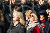 Remembrance Sunday at the Cenotaph in London 2014: Group D24 - War Widows Association. Press stand opposite the Foreign Office building, Whitehall, London SW1, London, Greater London, United Kingdom, on 09 November 2014 at 11:47, image #453