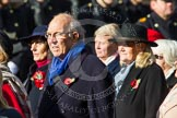 Remembrance Sunday at the Cenotaph in London 2014: Group D24 - War Widows Association. Press stand opposite the Foreign Office building, Whitehall, London SW1, London, Greater London, United Kingdom, on 09 November 2014 at 11:47, image #455