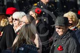 Remembrance Sunday at the Cenotaph in London 2014: Group D24 - War Widows Association. Press stand opposite the Foreign Office building, Whitehall, London SW1, London, Greater London, United Kingdom, on 09 November 2014 at 11:47, image #456