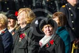 Remembrance Sunday at the Cenotaph in London 2014: Group D24 - War Widows Association. Press stand opposite the Foreign Office building, Whitehall, London SW1, London, Greater London, United Kingdom, on 09 November 2014 at 11:47, image #458