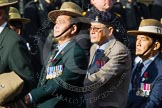 Remembrance Sunday at the Cenotaph in London 2014: Group D25 - Gurkha Brigade Association. Press stand opposite the Foreign Office building, Whitehall, London SW1, London, Greater London, United Kingdom, on 09 November 2014 at 11:47, image #460