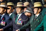 Remembrance Sunday at the Cenotaph in London 2014: Group D25 - Gurkha Brigade Association. Press stand opposite the Foreign Office building, Whitehall, London SW1, London, Greater London, United Kingdom, on 09 November 2014 at 11:47, image #461
