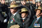 Remembrance Sunday at the Cenotaph in London 2014: Group D25 - Gurkha Brigade Association. Press stand opposite the Foreign Office building, Whitehall, London SW1, London, Greater London, United Kingdom, on 09 November 2014 at 11:47, image #462