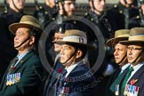 Remembrance Sunday at the Cenotaph in London 2014: Group D25 - Gurkha Brigade Association. Press stand opposite the Foreign Office building, Whitehall, London SW1, London, Greater London, United Kingdom, on 09 November 2014 at 11:47, image #463