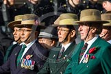 Remembrance Sunday at the Cenotaph in London 2014: Group D25 - Gurkha Brigade Association. Press stand opposite the Foreign Office building, Whitehall, London SW1, London, Greater London, United Kingdom, on 09 November 2014 at 11:47, image #464