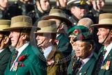 Remembrance Sunday at the Cenotaph in London 2014: Group D25 - Gurkha Brigade Association. Press stand opposite the Foreign Office building, Whitehall, London SW1, London, Greater London, United Kingdom, on 09 November 2014 at 11:47, image #465