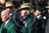 Remembrance Sunday at the Cenotaph in London 2014: Group D25 - Gurkha Brigade Association. Press stand opposite the Foreign Office building, Whitehall, London SW1, London, Greater London, United Kingdom, on 09 November 2014 at 11:47, image #468