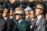 Remembrance Sunday at the Cenotaph in London 2014: Group D25 - Gurkha Brigade Association. Press stand opposite the Foreign Office building, Whitehall, London SW1, London, Greater London, United Kingdom, on 09 November 2014 at 11:47, image #470