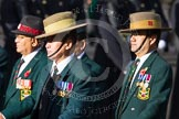 Remembrance Sunday at the Cenotaph in London 2014: Group D26 - British Gurkha Welfare Society. Press stand opposite the Foreign Office building, Whitehall, London SW1, London, Greater London, United Kingdom, on 09 November 2014 at 11:47, image #475