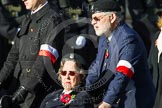Remembrance Sunday at the Cenotaph in London 2014: Group D30 - Polish Ex-Combatants Association in Great Britain Trust Fund. Press stand opposite the Foreign Office building, Whitehall, London SW1, London, Greater London, United Kingdom, on 09 November 2014 at 11:48, image #521