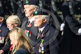 Remembrance Sunday at the Cenotaph in London 2014: Group D31 - Royal Hong Kong Regiment Association. Press stand opposite the Foreign Office building, Whitehall, London SW1, London, Greater London, United Kingdom, on 09 November 2014 at 11:49, image #526