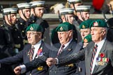 Remembrance Sunday at the Cenotaph in London 2014: Group E1 - Royal Marines Association. Press stand opposite the Foreign Office building, Whitehall, London SW1, London, Greater London, United Kingdom, on 09 November 2014 at 11:49, image #528