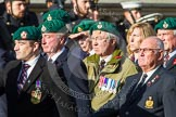 Remembrance Sunday at the Cenotaph in London 2014: Group E1 - Royal Marines Association. Press stand opposite the Foreign Office building, Whitehall, London SW1, London, Greater London, United Kingdom, on 09 November 2014 at 11:49, image #534