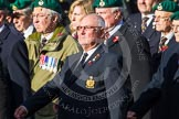 Remembrance Sunday at the Cenotaph in London 2014: Group E1 - Royal Marines Association. Press stand opposite the Foreign Office building, Whitehall, London SW1, London, Greater London, United Kingdom, on 09 November 2014 at 11:49, image #535