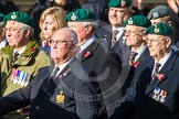 Remembrance Sunday at the Cenotaph in London 2014: Group E1 - Royal Marines Association. Press stand opposite the Foreign Office building, Whitehall, London SW1, London, Greater London, United Kingdom, on 09 November 2014 at 11:49, image #536