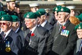 Remembrance Sunday at the Cenotaph in London 2014: Group E1 - Royal Marines Association. Press stand opposite the Foreign Office building, Whitehall, London SW1, London, Greater London, United Kingdom, on 09 November 2014 at 11:49, image #539