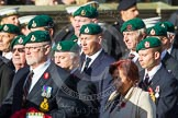Remembrance Sunday at the Cenotaph in London 2014: Group E1 - Royal Marines Association. Press stand opposite the Foreign Office building, Whitehall, London SW1, London, Greater London, United Kingdom, on 09 November 2014 at 11:49, image #545