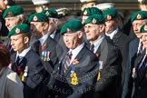 Remembrance Sunday at the Cenotaph in London 2014: Group E1 - Royal Marines Association. Press stand opposite the Foreign Office building, Whitehall, London SW1, London, Greater London, United Kingdom, on 09 November 2014 at 11:49, image #547