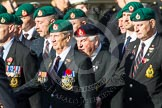 Remembrance Sunday at the Cenotaph in London 2014: Group E1 - Royal Marines Association. Press stand opposite the Foreign Office building, Whitehall, London SW1, London, Greater London, United Kingdom, on 09 November 2014 at 11:49, image #548