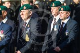 Remembrance Sunday at the Cenotaph in London 2014: Group E1 - Royal Marines Association. Press stand opposite the Foreign Office building, Whitehall, London SW1, London, Greater London, United Kingdom, on 09 November 2014 at 11:49, image #550