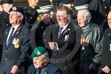 Remembrance Sunday at the Cenotaph in London 2014: Group E1 - Royal Marines Association. Press stand opposite the Foreign Office building, Whitehall, London SW1, London, Greater London, United Kingdom, on 09 November 2014 at 11:49, image #553