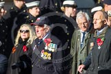 Remembrance Sunday at the Cenotaph in London 2014: Group E2 - Royal Naval Association. Press stand opposite the Foreign Office building, Whitehall, London SW1, London, Greater London, United Kingdom, on 09 November 2014 at 11:49, image #574