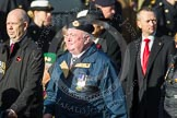 Remembrance Sunday at the Cenotaph in London 2014: Group E2 - Royal Naval Association. Press stand opposite the Foreign Office building, Whitehall, London SW1, London, Greater London, United Kingdom, on 09 November 2014 at 11:49, image #576