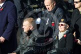Remembrance Sunday at the Cenotaph in London 2014: Group E2 - Royal Naval Association. Press stand opposite the Foreign Office building, Whitehall, London SW1, London, Greater London, United Kingdom, on 09 November 2014 at 11:50, image #584