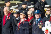 Remembrance Sunday at the Cenotaph in London 2014: Group E3 - Merchant Navy Association. Press stand opposite the Foreign Office building, Whitehall, London SW1, London, Greater London, United Kingdom, on 09 November 2014 at 11:50, image #587