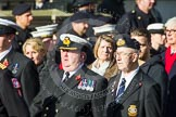 Remembrance Sunday at the Cenotaph in London 2014: Group E3 - Merchant Navy Association. Press stand opposite the Foreign Office building, Whitehall, London SW1, London, Greater London, United Kingdom, on 09 November 2014 at 11:50, image #594