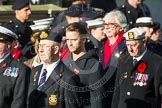 Remembrance Sunday at the Cenotaph in London 2014: Group E3 - Merchant Navy Association. Press stand opposite the Foreign Office building, Whitehall, London SW1, London, Greater London, United Kingdom, on 09 November 2014 at 11:50, image #595