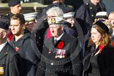 Remembrance Sunday at the Cenotaph in London 2014: Group E3 - Merchant Navy Association. Press stand opposite the Foreign Office building, Whitehall, London SW1, London, Greater London, United Kingdom, on 09 November 2014 at 11:50, image #596