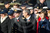 Remembrance Sunday at the Cenotaph in London 2014: Group E3 - Merchant Navy Association. Press stand opposite the Foreign Office building, Whitehall, London SW1, London, Greater London, United Kingdom, on 09 November 2014 at 11:50, image #603