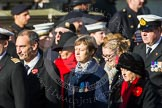 Remembrance Sunday at the Cenotaph in London 2014: Group E3 - Merchant Navy Association. Press stand opposite the Foreign Office building, Whitehall, London SW1, London, Greater London, United Kingdom, on 09 November 2014 at 11:50, image #604