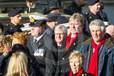 Remembrance Sunday at the Cenotaph in London 2014: Group E3 - Merchant Navy Association. Press stand opposite the Foreign Office building, Whitehall, London SW1, London, Greater London, United Kingdom, on 09 November 2014 at 11:50, image #605