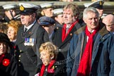 Remembrance Sunday at the Cenotaph in London 2014: Group E3 - Merchant Navy Association. Press stand opposite the Foreign Office building, Whitehall, London SW1, London, Greater London, United Kingdom, on 09 November 2014 at 11:50, image #606