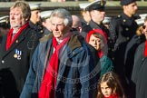 Remembrance Sunday at the Cenotaph in London 2014: Group E3 - Merchant Navy Association. Press stand opposite the Foreign Office building, Whitehall, London SW1, London, Greater London, United Kingdom, on 09 November 2014 at 11:50, image #607
