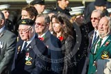 Remembrance Sunday at the Cenotaph in London 2014: Group E4 - Fleet Air Arm Armourers Association. Press stand opposite the Foreign Office building, Whitehall, London SW1, London, Greater London, United Kingdom, on 09 November 2014 at 11:50, image #621
