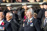 Remembrance Sunday at the Cenotaph in London 2014: Group E5 - Fleet Air Arm Association. Press stand opposite the Foreign Office building, Whitehall, London SW1, London, Greater London, United Kingdom, on 09 November 2014 at 11:50, image #625