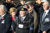 Remembrance Sunday at the Cenotaph in London 2014: Group E5 - Fleet Air Arm Association. Press stand opposite the Foreign Office building, Whitehall, London SW1, London, Greater London, United Kingdom, on 09 November 2014 at 11:50, image #627