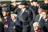 Remembrance Sunday at the Cenotaph in London 2014: Group E5 - Fleet Air Arm Association. Press stand opposite the Foreign Office building, Whitehall, London SW1, London, Greater London, United Kingdom, on 09 November 2014 at 11:50, image #629