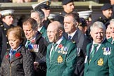 Remembrance Sunday at the Cenotaph in London 2014: Group E8 - Fleet Air Arm Junglie Association. Press stand opposite the Foreign Office building, Whitehall, London SW1, London, Greater London, United Kingdom, on 09 November 2014 at 11:51, image #643