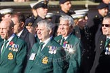Remembrance Sunday at the Cenotaph in London 2014: Group E8 - Fleet Air Arm Junglie Association. Press stand opposite the Foreign Office building, Whitehall, London SW1, London, Greater London, United Kingdom, on 09 November 2014 at 11:51, image #645