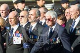 Remembrance Sunday at the Cenotaph in London 2014: Group E11 - Sea Harrier Association. Press stand opposite the Foreign Office building, Whitehall, London SW1, London, Greater London, United Kingdom, on 09 November 2014 at 11:51, image #665