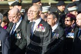 Remembrance Sunday at the Cenotaph in London 2014: Group E11 - Sea Harrier Association. Press stand opposite the Foreign Office building, Whitehall, London SW1, London, Greater London, United Kingdom, on 09 November 2014 at 11:51, image #667