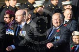 Remembrance Sunday at the Cenotaph in London 2014: Group E11 - Sea Harrier Association. Press stand opposite the Foreign Office building, Whitehall, London SW1, London, Greater London, United Kingdom, on 09 November 2014 at 11:51, image #669
