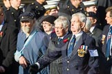 Remembrance Sunday at the Cenotaph in London 2014: Group E12 - Flower Class Corvette Association. Press stand opposite the Foreign Office building, Whitehall, London SW1, London, Greater London, United Kingdom, on 09 November 2014 at 11:51, image #674