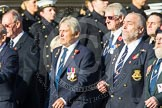 Remembrance Sunday at the Cenotaph in London 2014: Group E17 - HMS Ganges Association. Press stand opposite the Foreign Office building, Whitehall, London SW1, London, Greater London, United Kingdom, on 09 November 2014 at 11:51, image #691