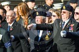 Remembrance Sunday at the Cenotaph in London 2014: Group E17 - HMS Ganges Association. Press stand opposite the Foreign Office building, Whitehall, London SW1, London, Greater London, United Kingdom, on 09 November 2014 at 11:51, image #693